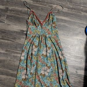 [dELiA*s] Green flower skater dress